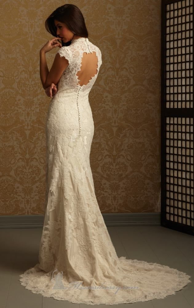 Ivory Lace 2455 Vintage Wedding Dress | Allure romance, Romance and ...