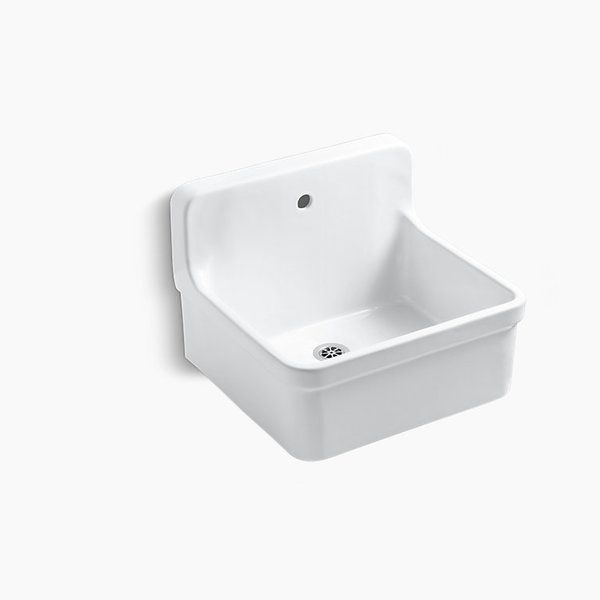 The Integral Backsplash Of The Gilford Scrub Up X2f Plaster Sink