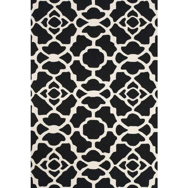 Amalfi Collection Hand Hooked Wool Area Rug In Black And White By Bd