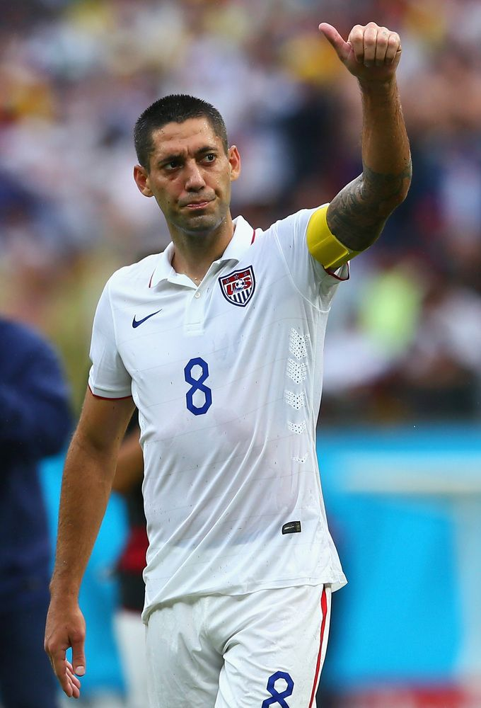 U.S. Survives Group Of Death, Advances At World Cup Into Round Of 16 - Clint Dempsey of the United States acknowledges the fans after being defeated by Germany 1-0