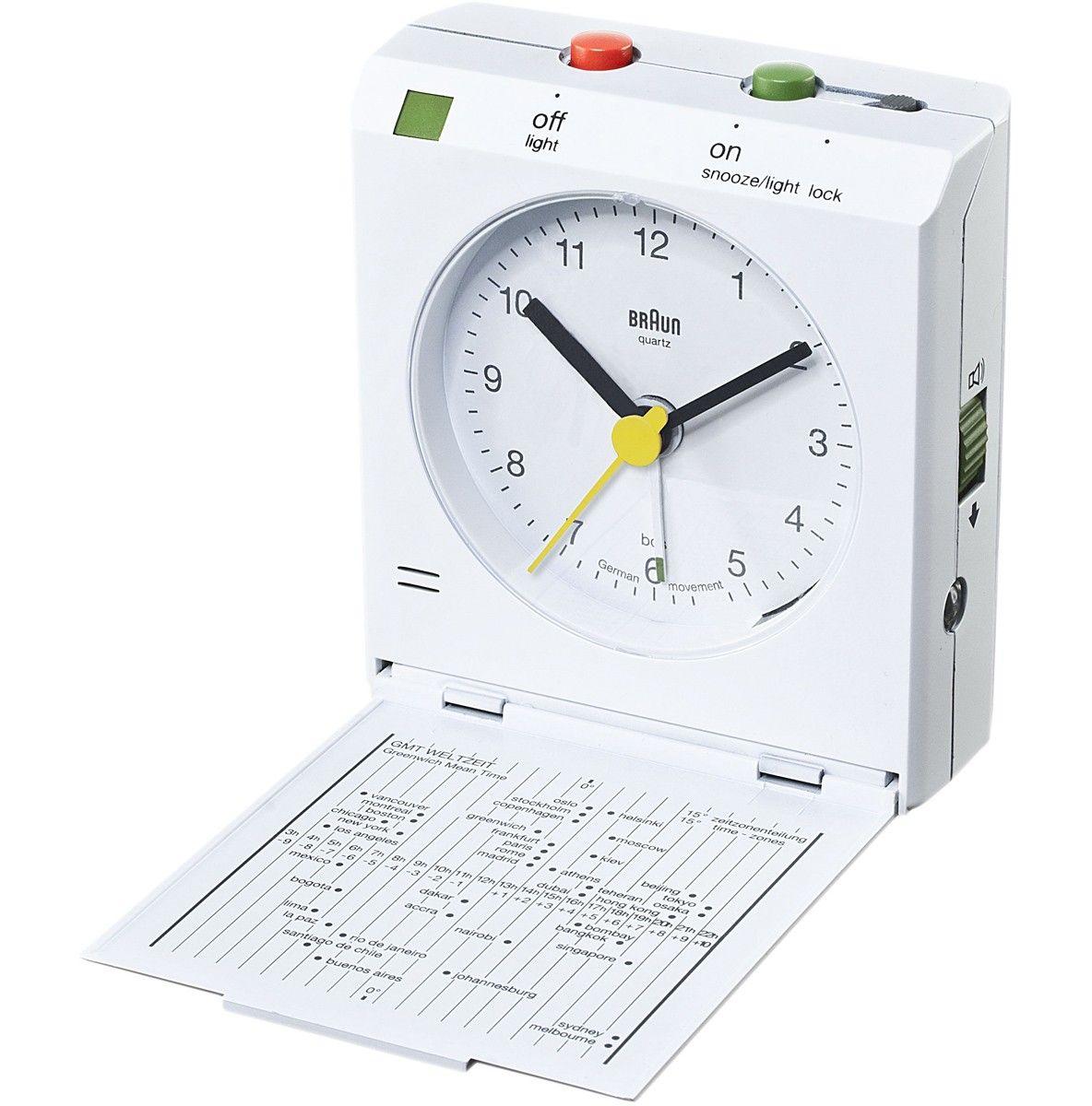 Braun Reflex Travel Alarm Clock White