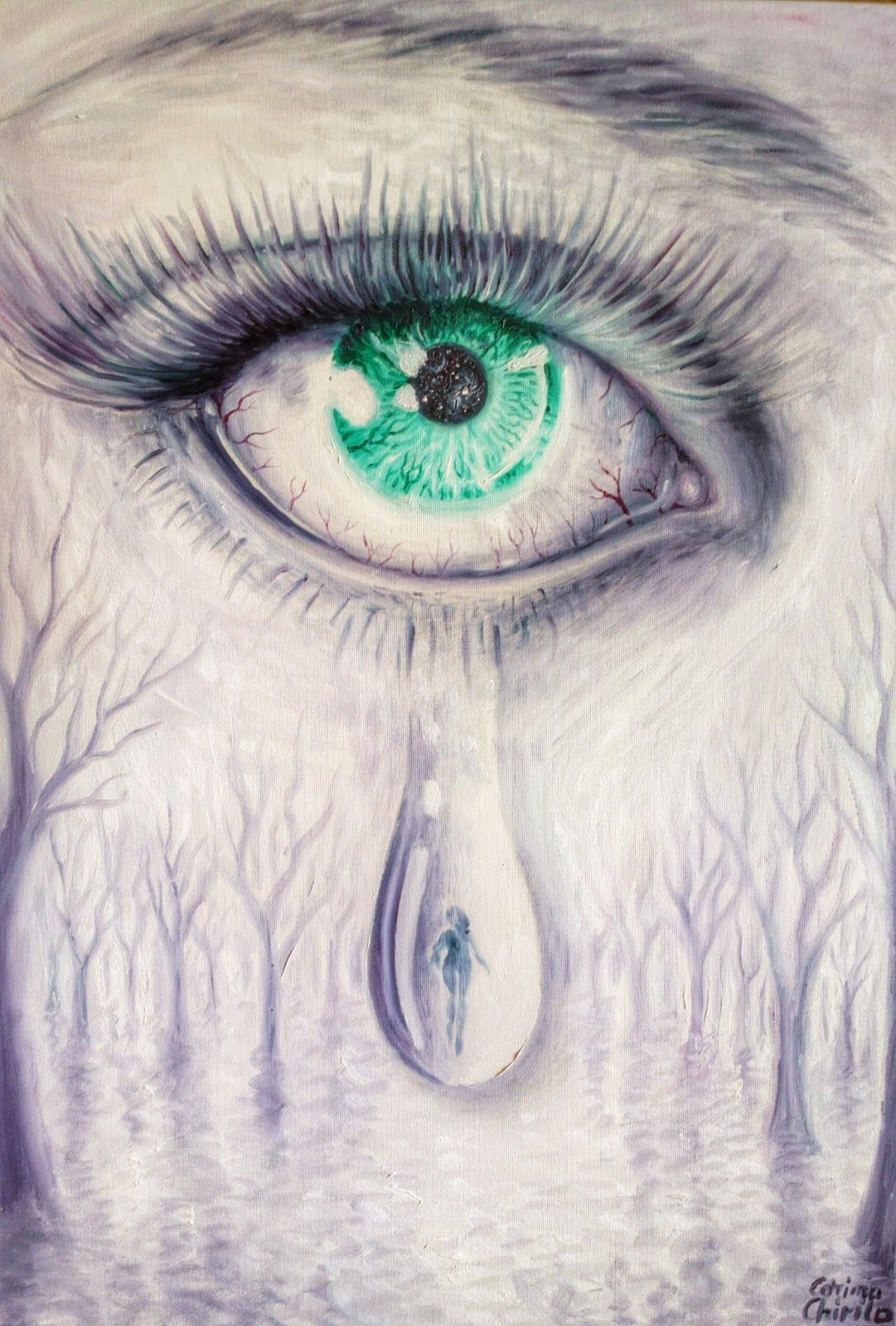 Corinazone art the art of corina chirila♥ tears for a lost love oil on canvas painting