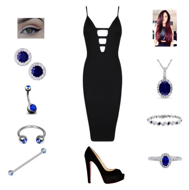 """Sapphires are a girls best friend"" by bsalvinski6364 on Polyvore featuring BERRICLE, R.H. Macy's & Co., Amour, Allurez, Bling Jewelry, Posh Girl and Christian Louboutin"