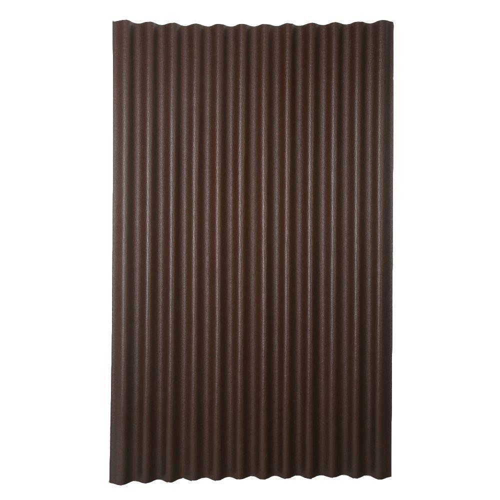 Ondura 6 ft. 7 in. x 4 ft. Asphalt Corrugated Roof Panel
