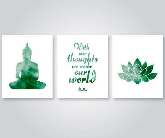 lo yoga citazione budha arte verde-Scarica di SunnyRainFactory