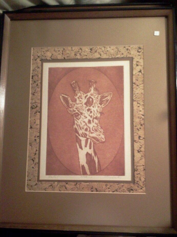 Mary Dinkins (b1926) Texas Artist Original #10/150 Signed & Framed ...