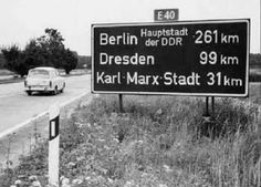 Berlin - Dresden - Karl Marx Stadt