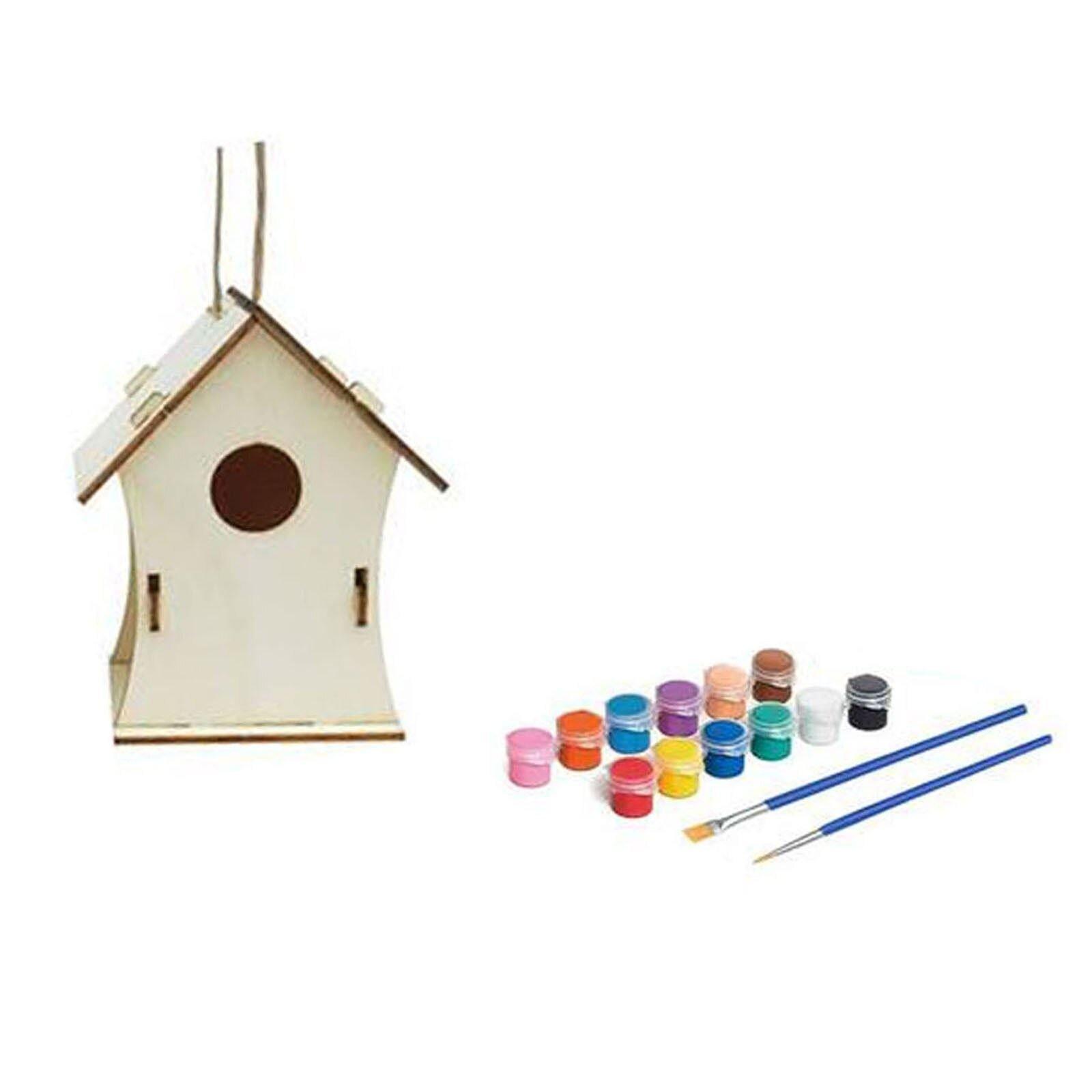 Photo of Creative Wooden Home Decoration Diy Hand Painted Crafts Graffiti Bird House Set 30ml Bird House Diy Home Garden Pet Supplier – G / SPAIN