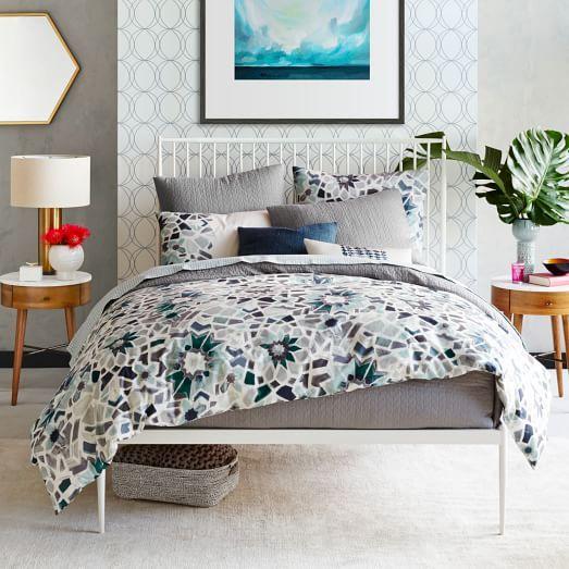 West Elm White Bed Frame