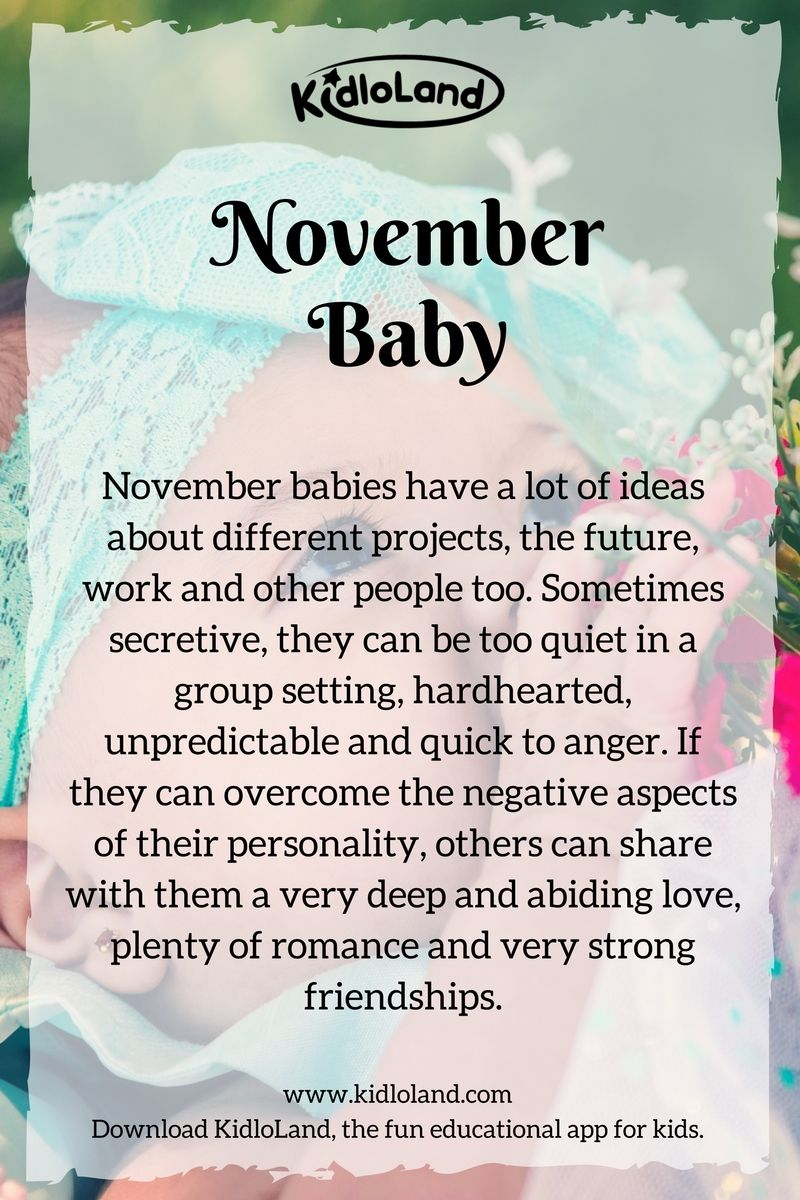 november-baby-month - KidloLand #birthdaymonth