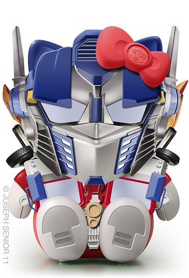 Hello Kitty Optimus Transformer