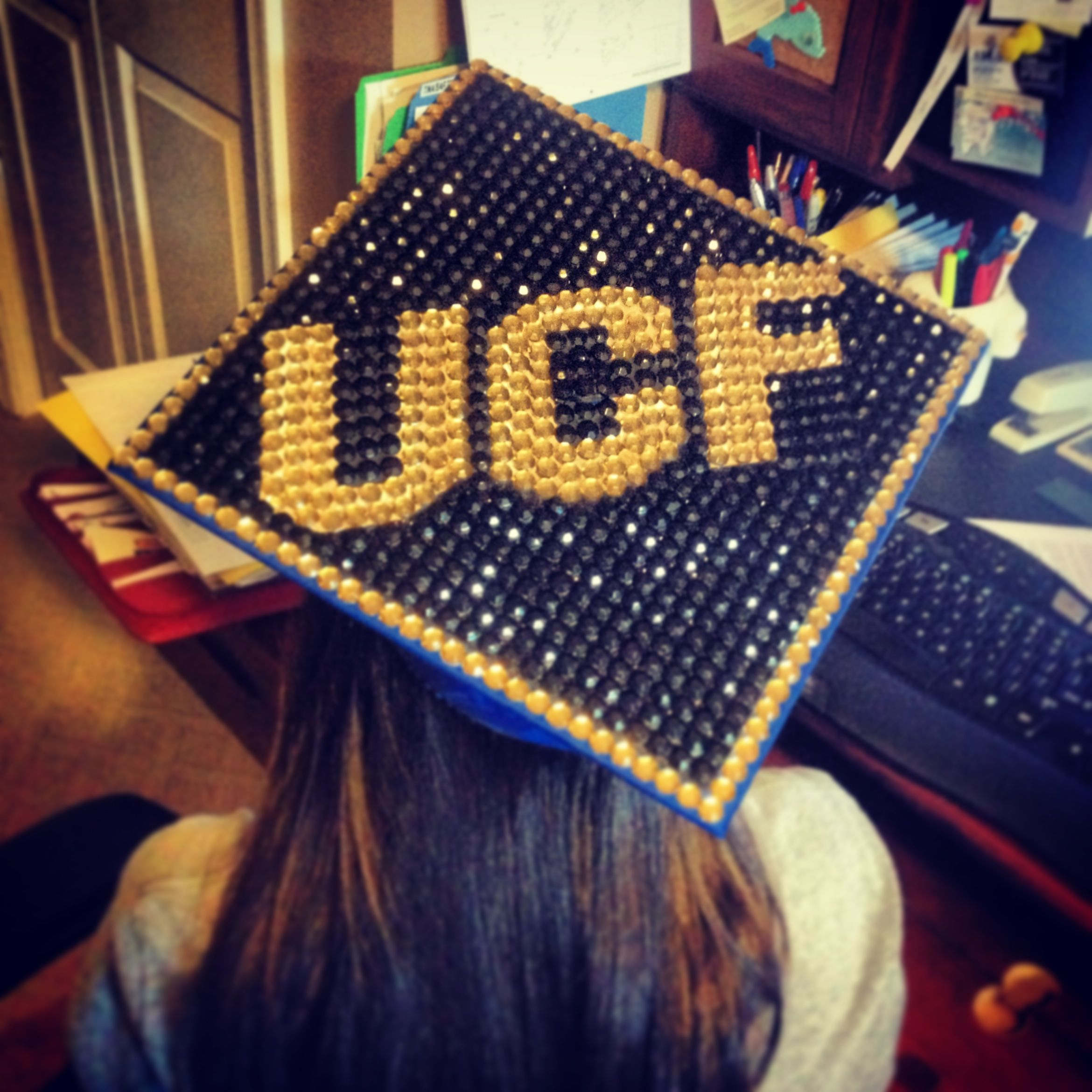 Fascinating Teachers How To Decorate A Graduation Cap Bling Ucf Decorated Graduation Cap Ucf Decorated Graduation Cap Ucf Grad Pinterest Decorated How To Decorate A Graduation Cap ideas How To Decorate A Graduation Cap
