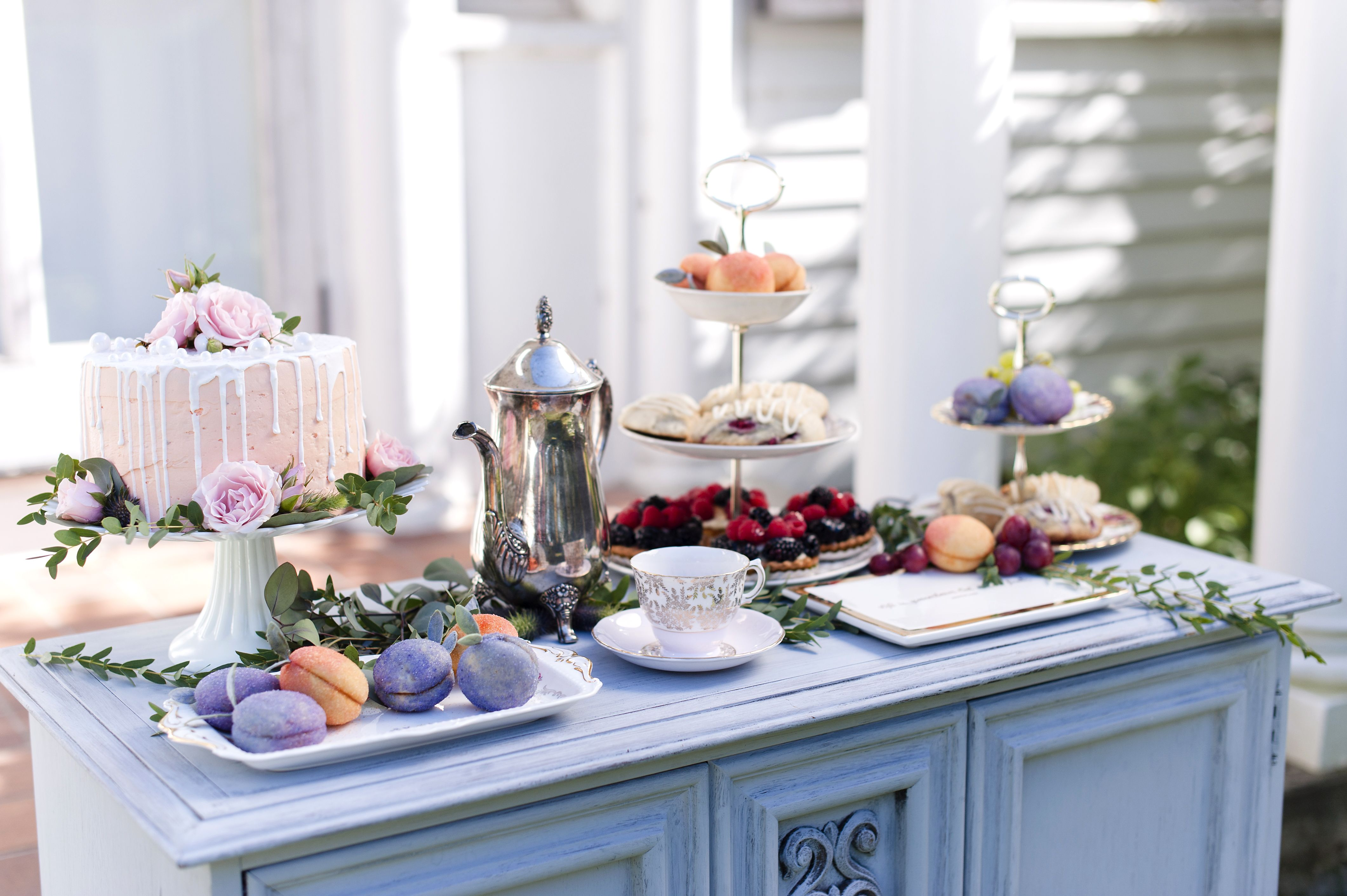 Vintage sweets table tea party bridesmaid proposal ottawa