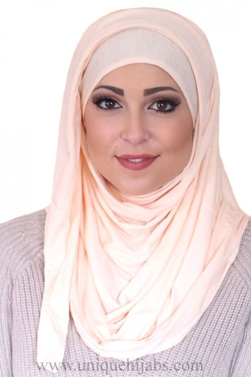 Nude Sequin Foil Print Hijab - Hijab Fashion Shop