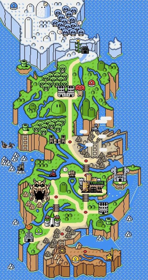 Game Of Thrones Map Mario Style With Images Super Mario