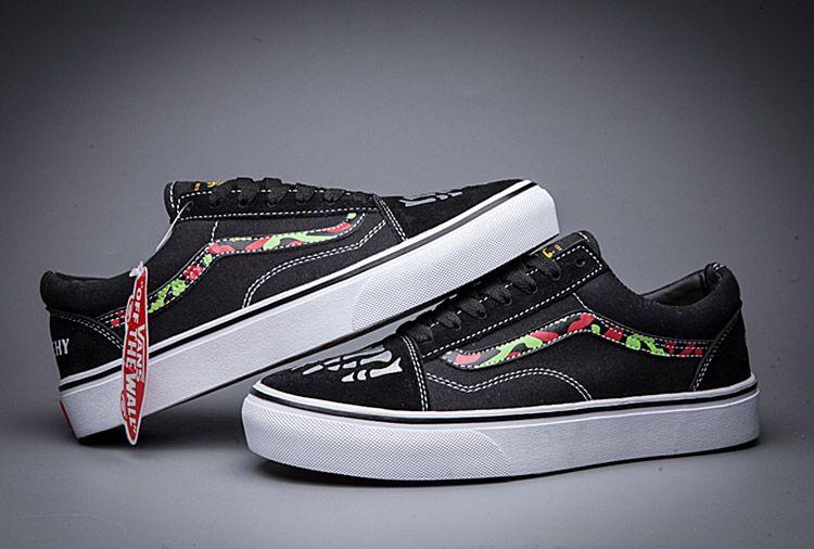 51dd93c950fb34 Vans Anarchy Chaos Skeleton Old Skool Skate Shoes For Sale  Vans ...