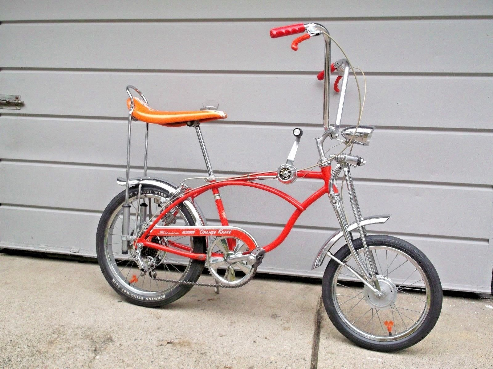 1969 Schwinn Orange Krate Sting Ray Bicycle 5 Speed Bike Ebay Schwinn Speed Bike Bicycle