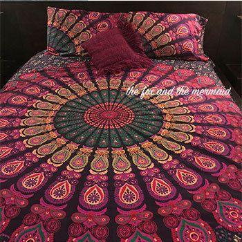 mandala roundie conception couette housse et taies d d co pinterest couettes conception. Black Bedroom Furniture Sets. Home Design Ideas