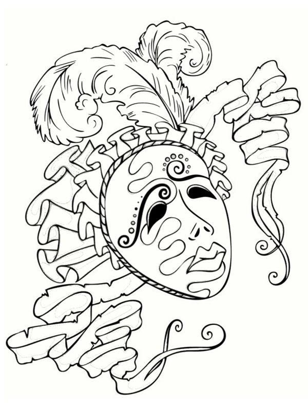 Coloriage masque carnaval venise bing images coloriage - Coloriage masque de venise ...