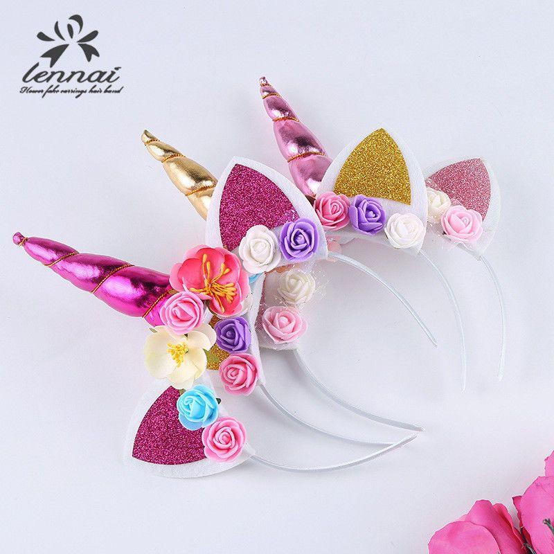 Magical Unicorn Horn Head Baby Kid Hair Band Headband Party Cosplay Fancy Dress