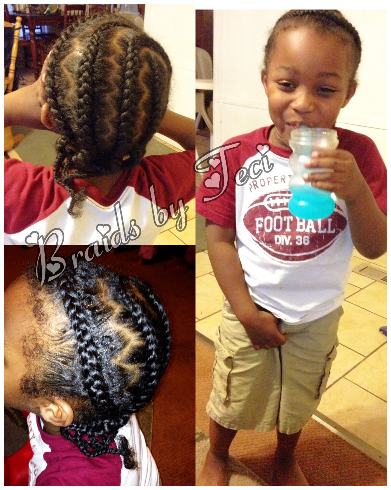 little boy braids