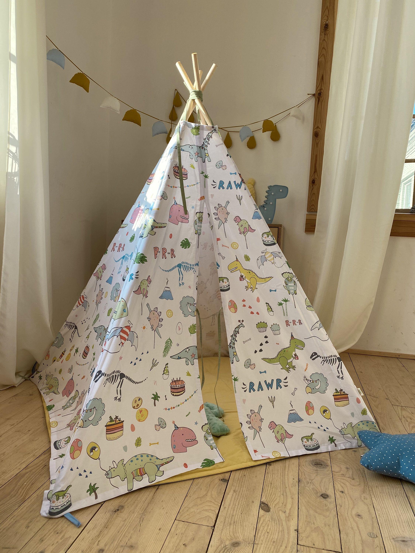 Dinosaur Teepee Tent Dino Room Decornursery Tipibaby Play Etsy In 2020 Kid Room Decor Colorful Kids Room Baby Room Decor