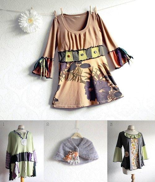 Recycled Upcycled Boho Bohemian Plus Size Womens Clothing Handmade Etsy Refashion Clothes Upcycled Fashion Altering Clothes