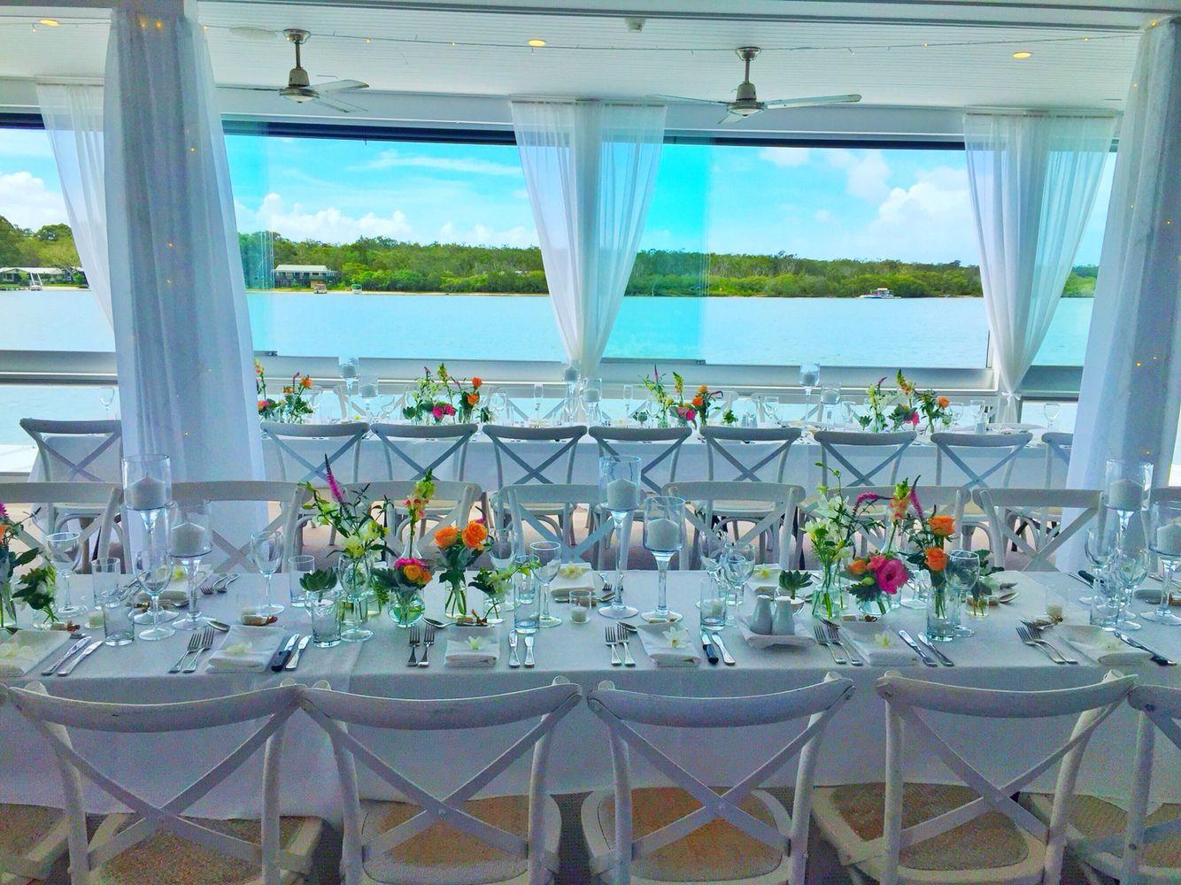 Noosa Wedding Reception Noosa Boathouse Styling Splash Events