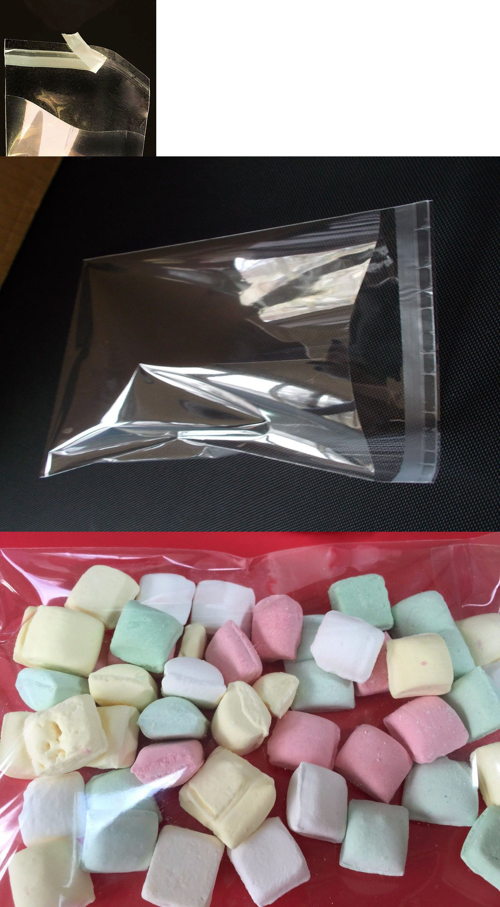 100 SUPER CLEAR POLY BAKERY CELLO CANDY BAG COOKIE FLAT POLYPROPYLENE BAGS