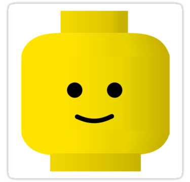 Smiley Minifig Head By Customize My Minifig Sticker By Chilleew Lego Faces Lego Head Free Lego