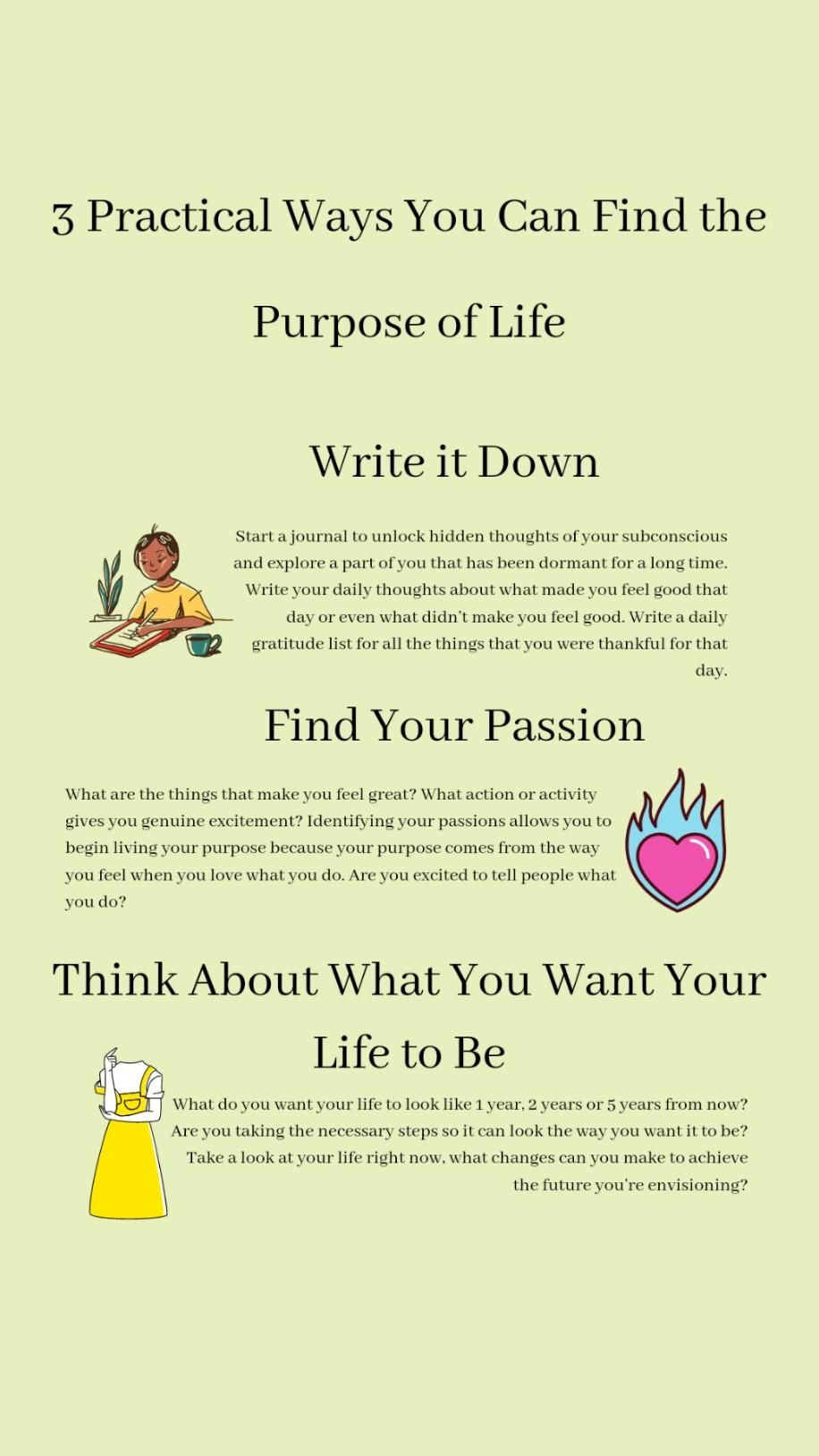 Time and stress management tips How to find your purpose in life