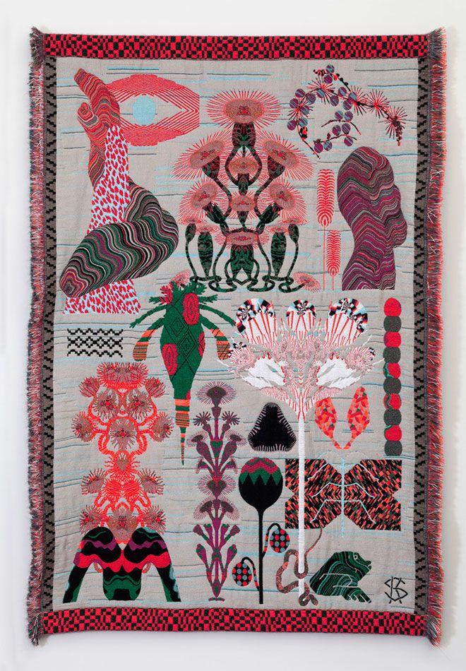 We're fascinated by Kustaa Saksi's surreal jacquard weavings.