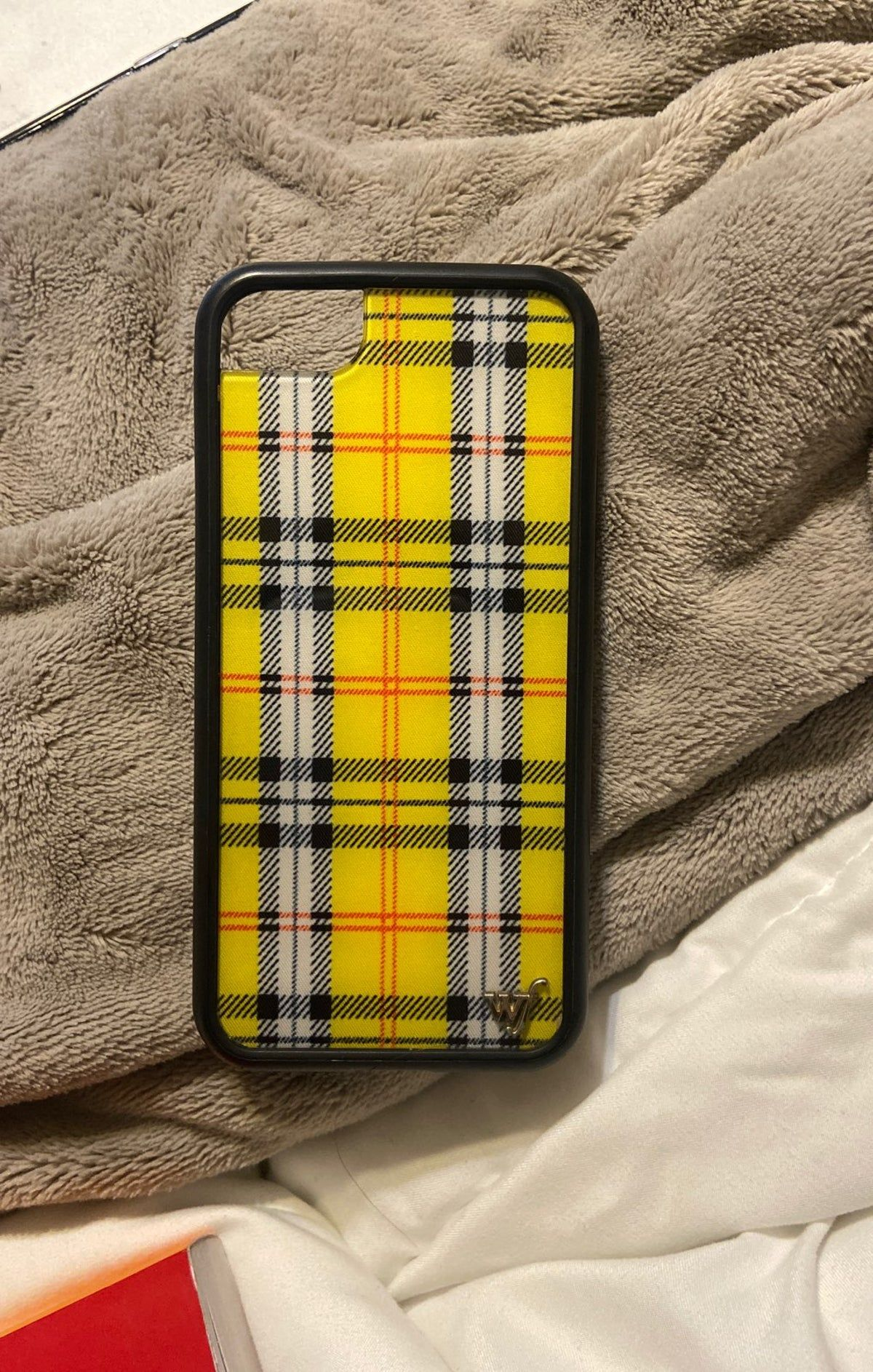 yellow plaid iPhone 7 wildflower case Wildflower phone