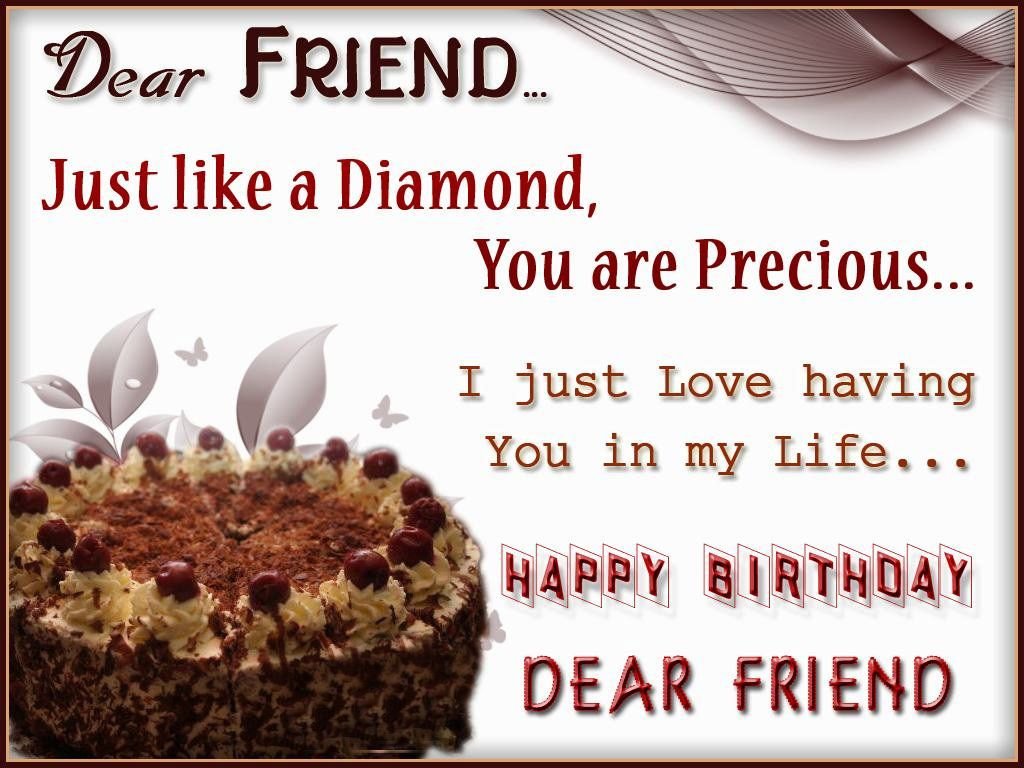 Pinterest Birthday Quotes: Dear Friend Happy Birthday 2015