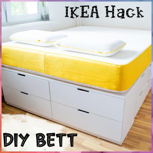 Diy Bett Ikea Hack Plateau Bett Selber Bauen Bett Aus Ikea Kommoden Diy Bett Ikea Hack Plateau Bett In 2020 Ikea Storage Bed Ikea Bed Ikea Hack Bedroom