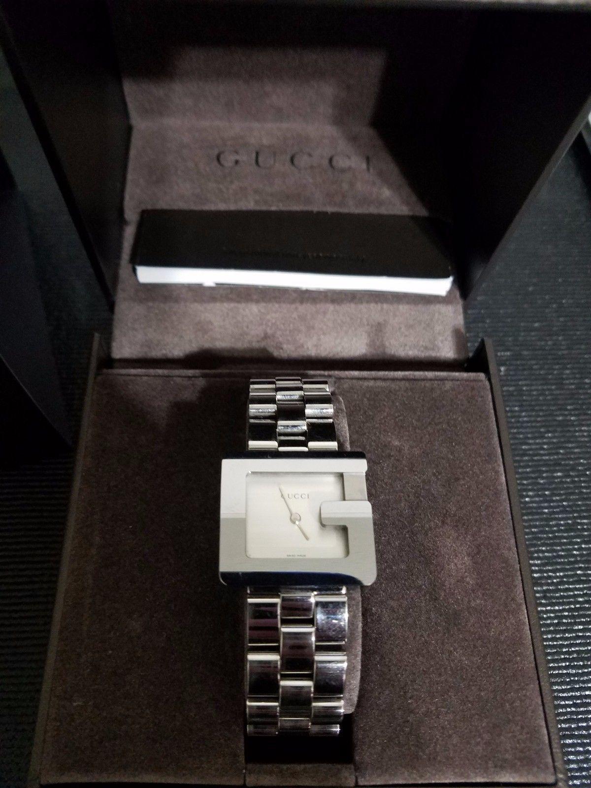 74e29d96047 Gucci 3600 J Authentic Watch White Face