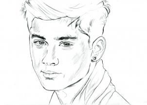 zayne from onedirection coloring sheets no color how to draw zayn malik zayn malik from one direction step by step