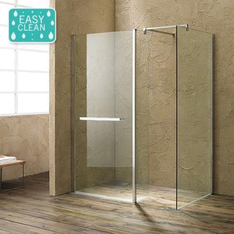 Matrix 10mm (1700 x 760mm) Wet Room Screen Enclosure | Side panels