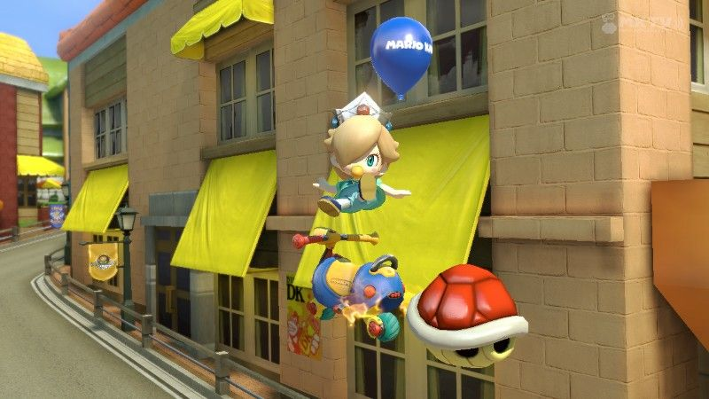 Baby Rosalina Performing A Trick Mario Kart Mario Kart 8 Fun Slide