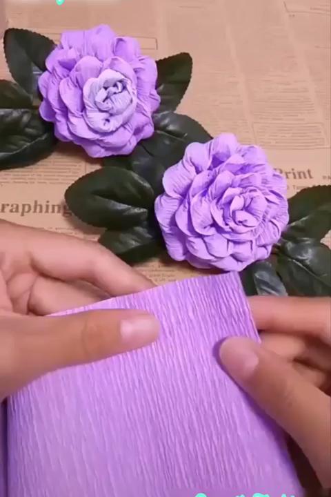 Pin En Flores En Papel