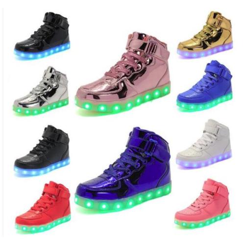 new product a366e 12a0b Tenis Botas de Luces para Niña Niño Zapatillas LED de Niñas Niños Zapatos  Luz (eBay Link)