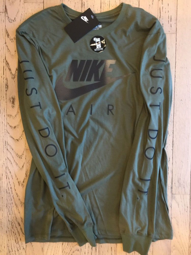 ce92db05 NIKE AIR JUST DO IT OLIVE GREEMLONG SLEEVE GRAPHIC T SHIRT MENS LARGE NWT  #fashion #clothing #shoes #accessories #mensclothing #shirts (ebay link)