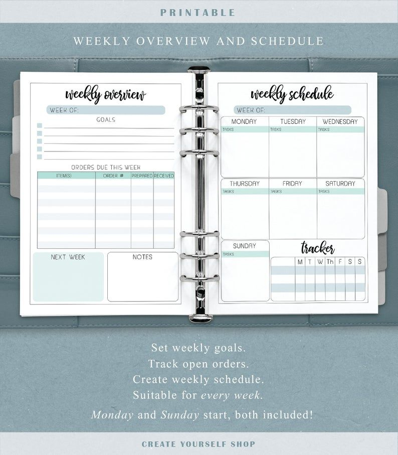 Small business planner printable business planner business | Etsy