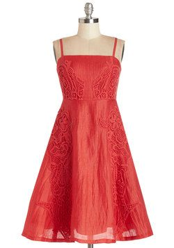 Tracy Reese Splendid and Sweet Dress. You feel at your confectionary cutest when you sport this candy-apple-red dress by Tracy Reese! #red #modcloth