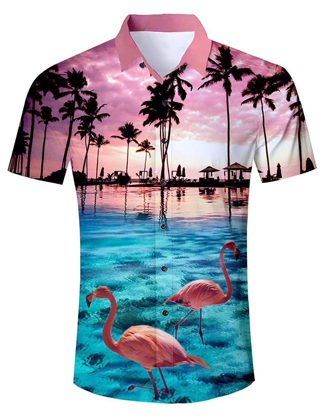Funky Hawaiian Shirt Beach Purple Different Sizes
