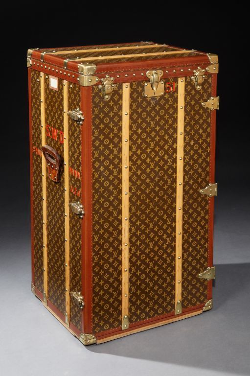 louis vuitton wardrobe trunk malle armoire from a unique collection of antique and