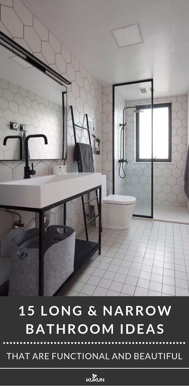 15 Lange Schmale Badezimmerideen Die Funktional Und Stilvoll