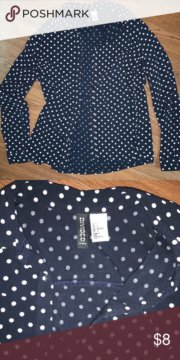 9e12100f9 Divided by H&M Polka Dot Shirt Very soft, light, and comfortable. Only worn