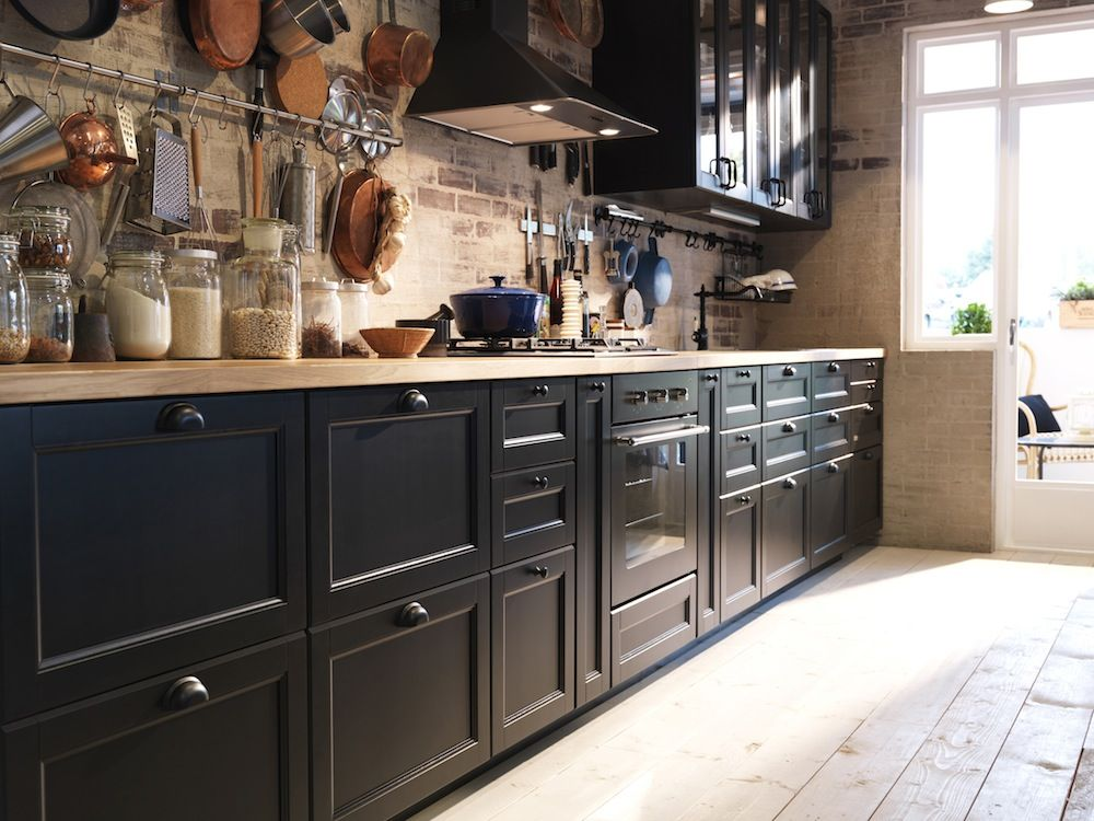 cuisine ikea laxarby noir - recherche google | ikea kitchens