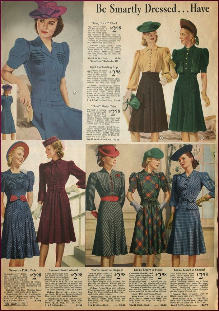 Newvintagelady Catalog Sunday 1940s Fashion 40s Fashion Vintage Outfits